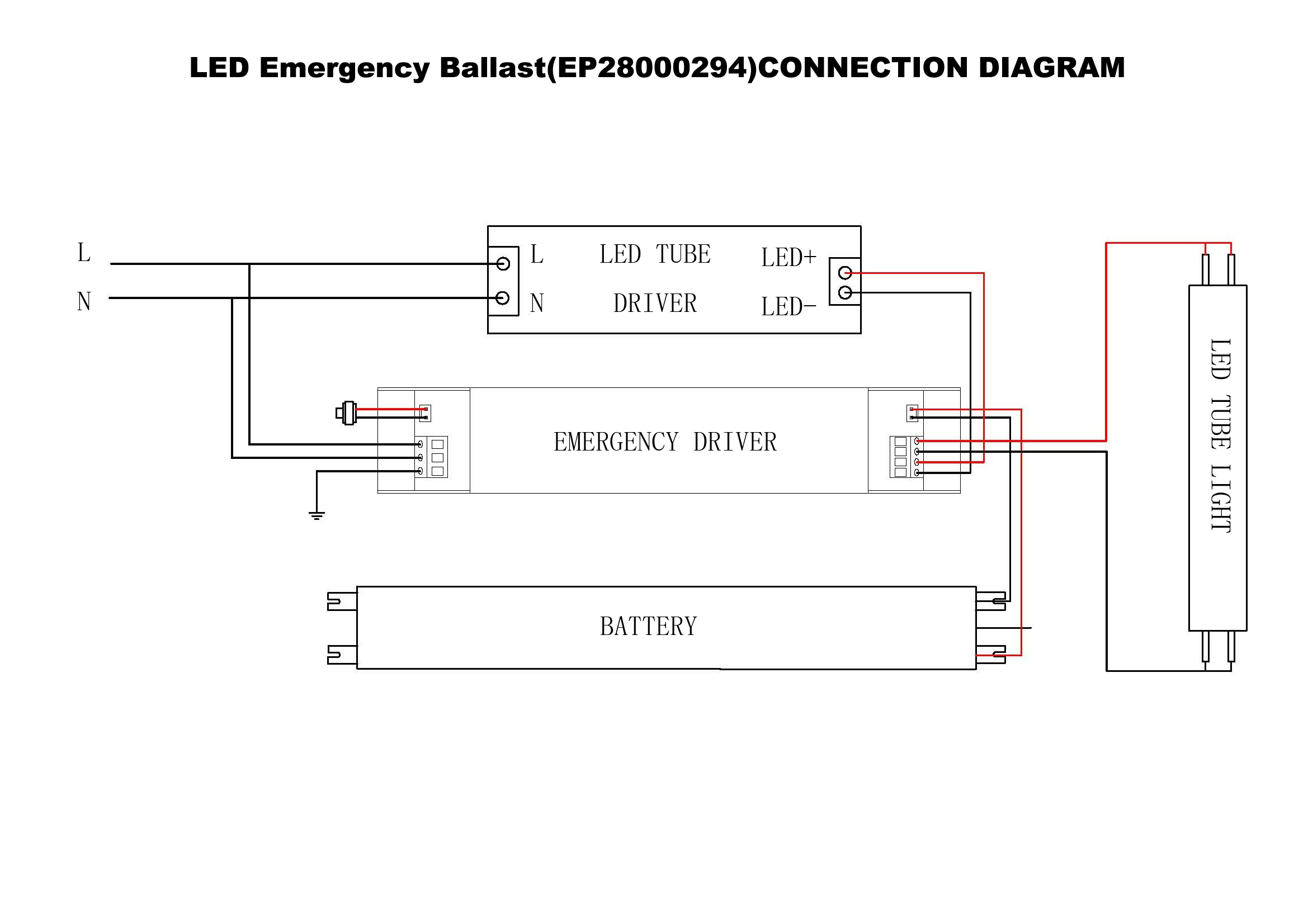 Led Emergency Ballast Wiring Diagram Expert Schematics For Fluorescent Light Datasheet Sunwind Lighting Company Ltd Triad