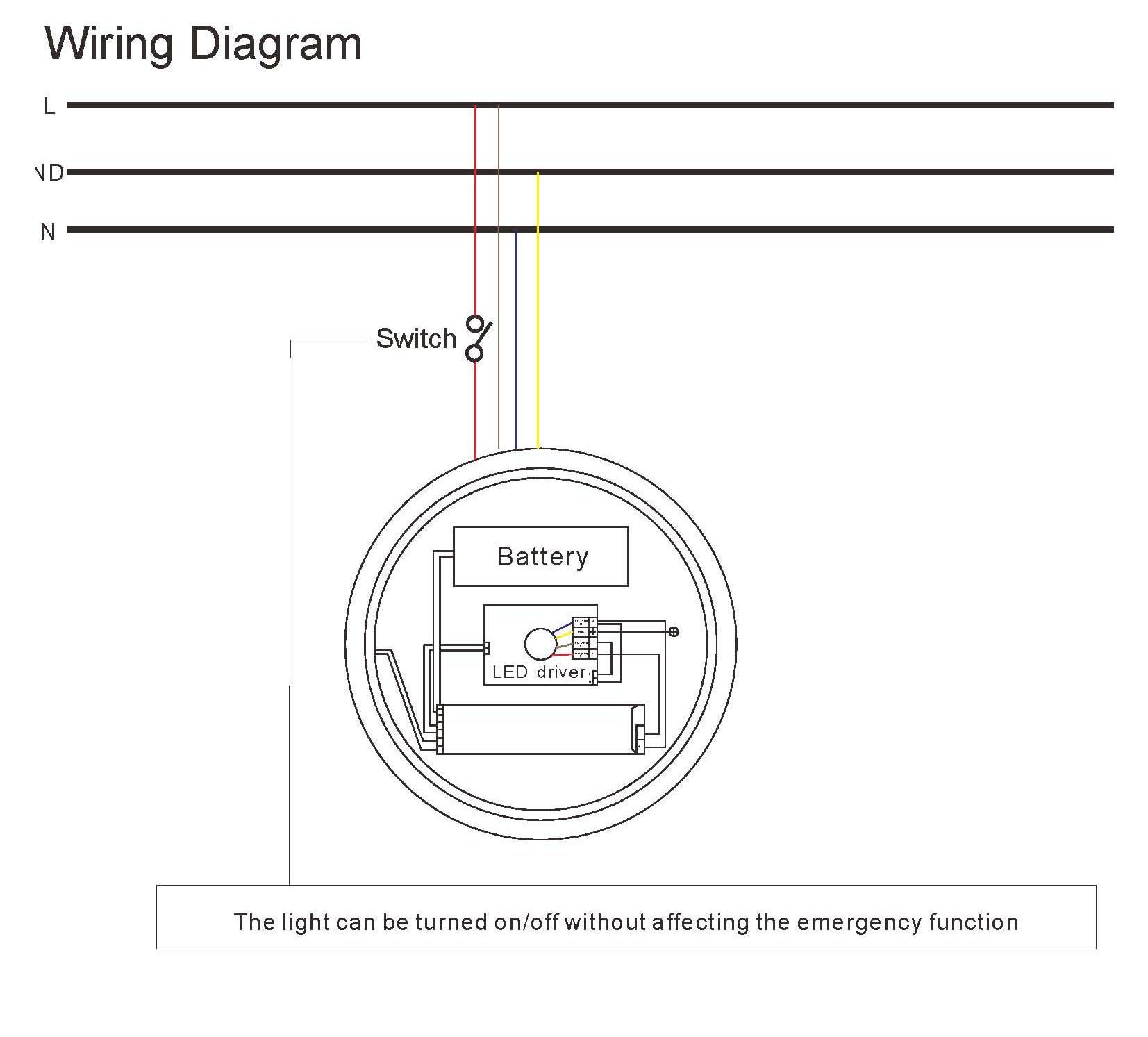 Emergency Light Wiring Diagram - Merzie.net on